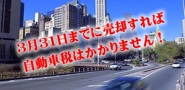 自動車税について:愛車を売るなら3月31日までに!